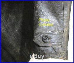 Veste en cuir noir Artillerie Spéciale / Tankiste / Aviation France 14-18