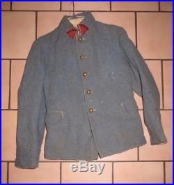 Veste pour un Sous-Officier du 25 ème Régiment d' Artillerie, bleu horizon. 14-18