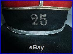 WW1 14/18 Képi 25° régiment de dragons Initiales HM TBE Cavalerie Française
