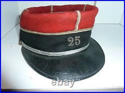 WW1 14/18 Képi 25° régiment de dragons Initiales TBE Cavalerie Française