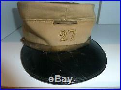 WW1 14/18 Képi toile 27° Régiment d'artillerie Sable Salonique Dardanelles