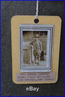 WW1 EXCEPTIONNEL GROUPING SOLDAT US 1917 ARTILLERY 5ème DIVISION 1914 1918