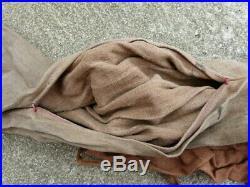 WW1 Sac a Avoine Francais de Cavalerie avec 2 petites sacoches en toile Selle