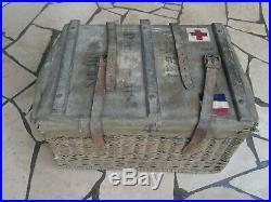 WW1 Service de santé Panier en Osier N°4T corps de troupe poste de secours