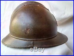 Ww1 Casque Belge Premiere Guerre Mondiale Avec Interieur Et Insigne