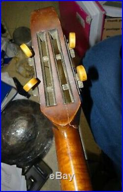 Ww1 Trench Art French Banjo Mandoline De Poilu Gourde Française