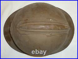Wwi Coque Casque Adrian Belge 1915 Belgique 1914-1918 Original Helmet Poilu
